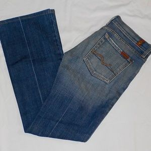 7 For All Mankind jeans sz 27 sz 6 Bootcut EUC !